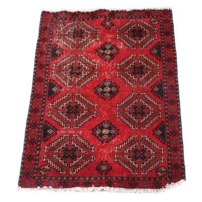 3'10 x 5'10 Hand-Knotted Persian Kazak Wool Rug