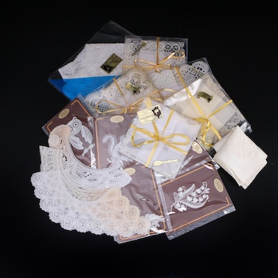 Handmade Belgian Lace Collars and Handkerchiefs