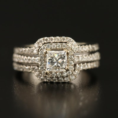 14K 1.34 CTW Diamond Ring with Digital GIA Report