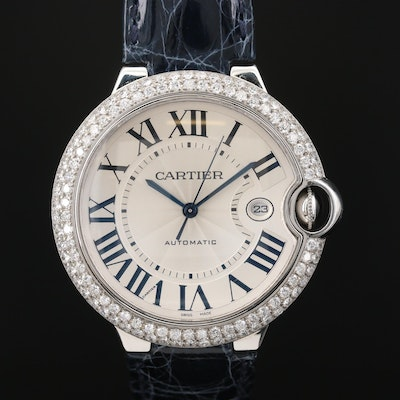 Cartier Ballon Bleu Stainless Steel 3.08 CTW Diamond Automatic Wristwatch