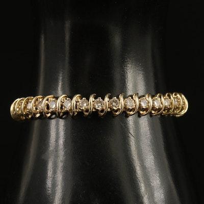 14K 5.04 CTW Diamond Link Bracelet