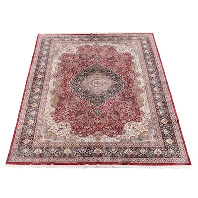 8'10 x 12'5 Hand-Knotted Persian Tabriz Wool Rug