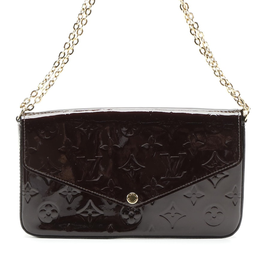 Louis Vuitton Felicie Pochette in Monogram Vernis with Leather Card Holder