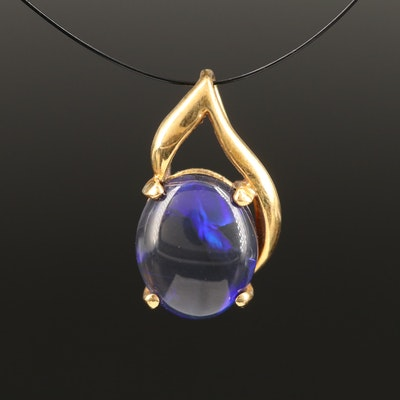 18K Black Opal Pendant