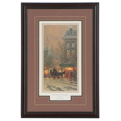 "Gerald Harvey Jones Offset Lithograph ""The Dinner Carriage,"" 21st Century"