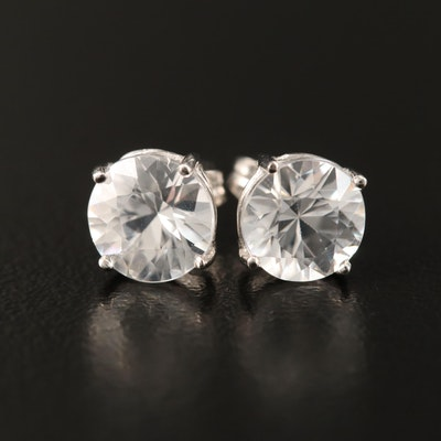 14K Zircon Stud Earrings