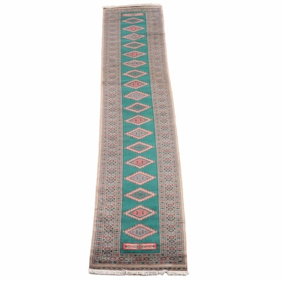 2'7 x 14'0 Hand-Knotted Persian Chenar Wool Carpet Runner