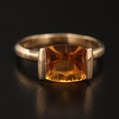14K Citrine Ring