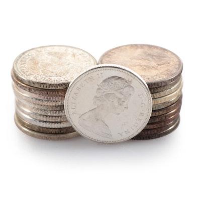 Twenty-One Silver Canadian Dollars, 1963–1967