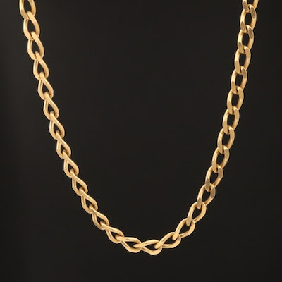 18K Curb Link Chain Necklace