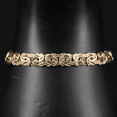14K Byzantine Link Bracelet