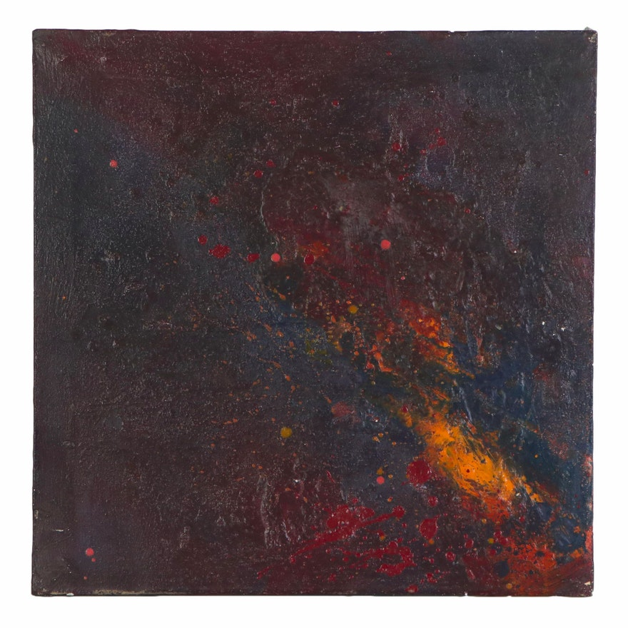 Abstract Impasto Oil Painting, 1962
