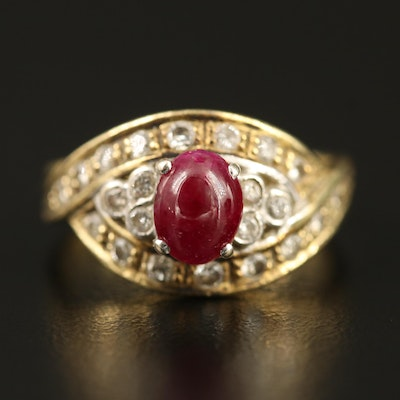 18K Ruby and Diamond Ring