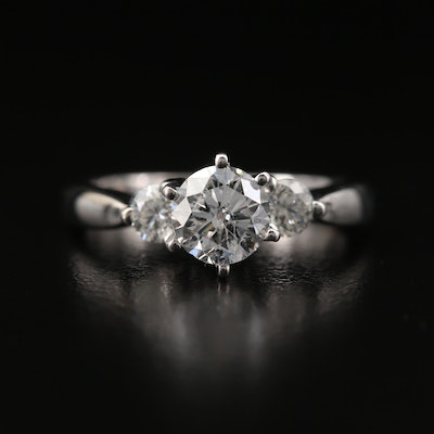 14K 1.25 CTW Diamond Three Stone Ring