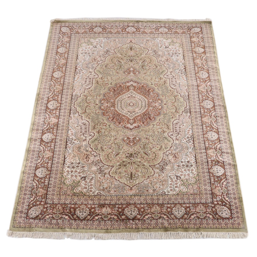 6'9.5 x 10'4 Hand-Knotted Turkish Hereke Wool Rug
