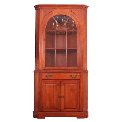 Willett Wildwood Cherry Corner China Cabinet, Mid-20th Century