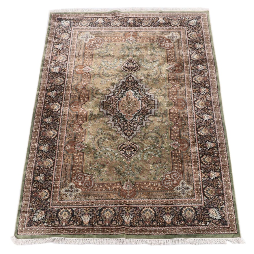 5'9.5 x 9'5 Hand-Knotted Persian Fereghan Wool Rug