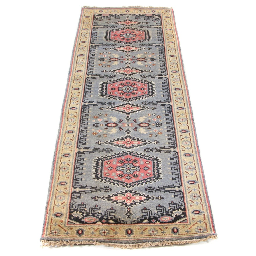 2'7 x 7'11 Hand-Knotted Indo-Persian Tabriz Runner