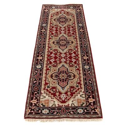 2'7 x 7'10 Hand-Knotted Indo-Persian Bakhshayesh Heriz Runner Rug