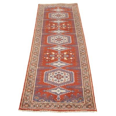 2'6 x 8'1 Hand-Knotted Indo-Caucasian Kazak Runner Rug