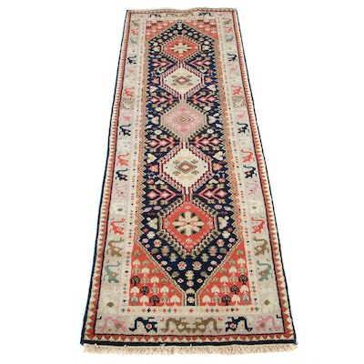 2'6 x 8'1 Hand-Knotted Persian Gabbeh Runner