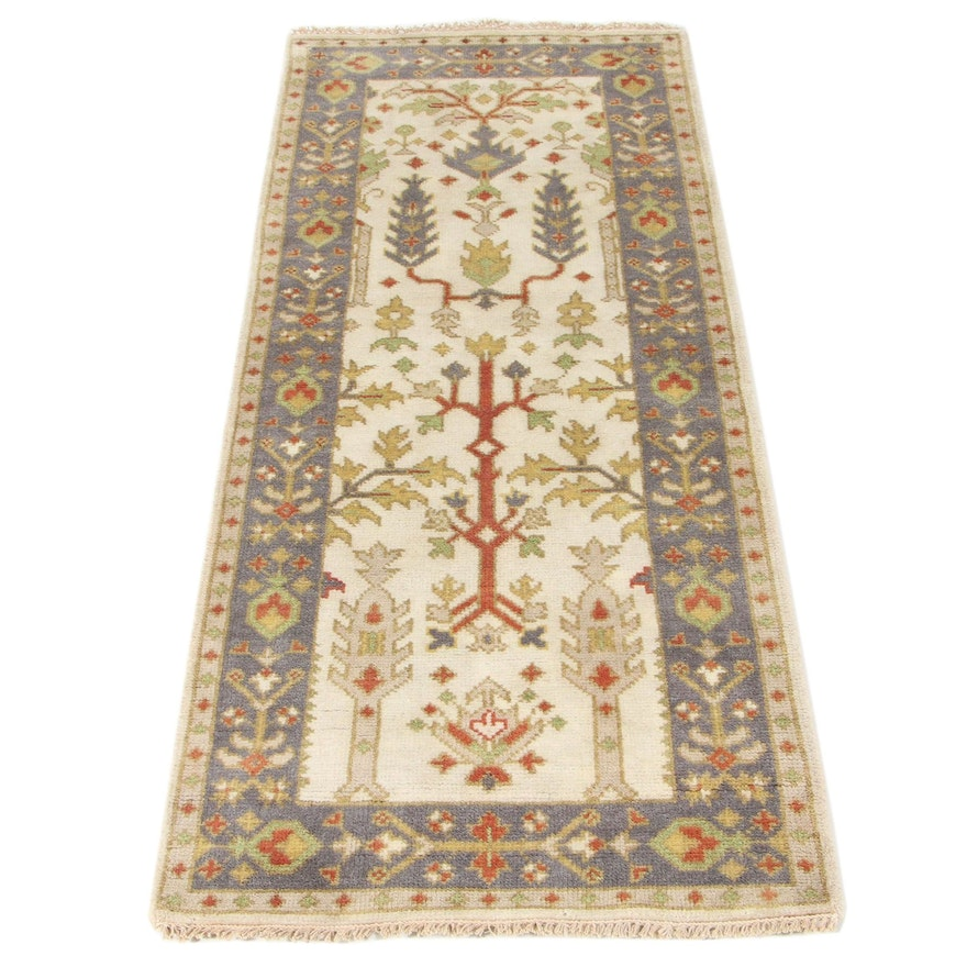 """2'6 x 6'3 Hand-Knotted Hunting Gomm """"Tree of Life"""" Long Rug"""
