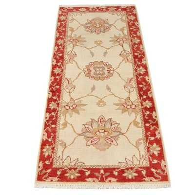 2'7 x 6'5 Hand-Knotted Turkish Oushak Long Rug