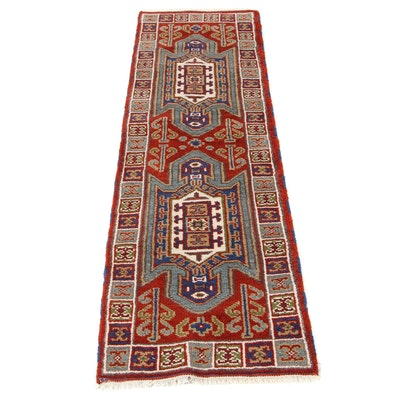 2'1 x 6'9 Hand-Knotted Kazak Bakhshayesh Karacheh Serapi Heriz Caucasian Runner