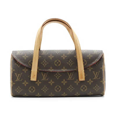 Louis Vuitton Sonatine Handbag in Monogram Canvas and Vachetta Leather