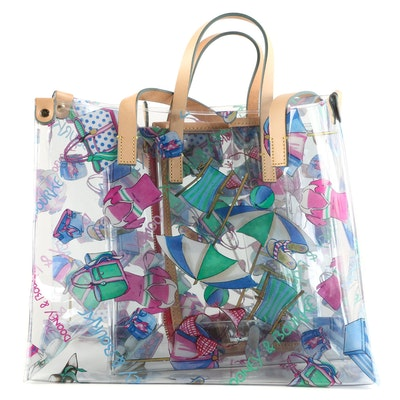 Dooney & Bourke Miami Vinyl Shopper Totes with Accessory Pouch
