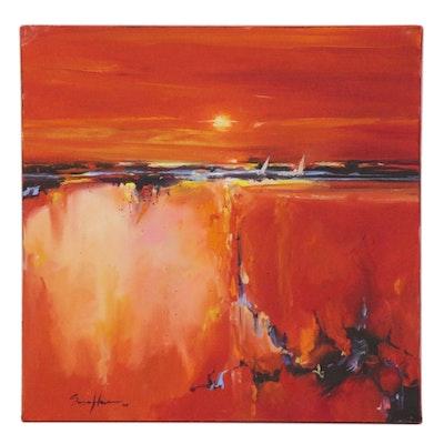 Sasa Han Abstract Landscape Oil Painting, 2020