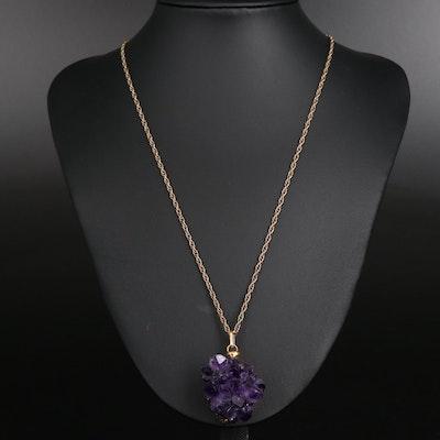 Amethyst Specimen Pendant Necklace