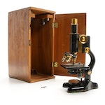 Bausch & Lomb Microscope, Case, and Accessories, Early 20th Century