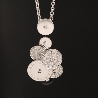 "Bvlgari ""Cicladi"" Collection 18K Rotating Disk Pendant"