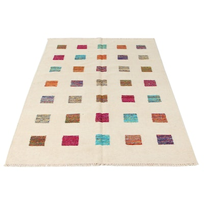 5'4 x 7'10 Handwoven Swedish Kilim Rug