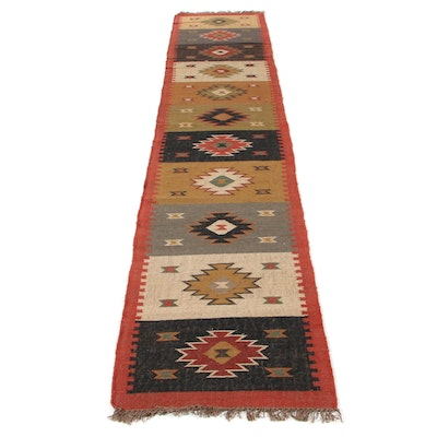 2'6 x 12'6 Handwoven Swedish Kilim Runner