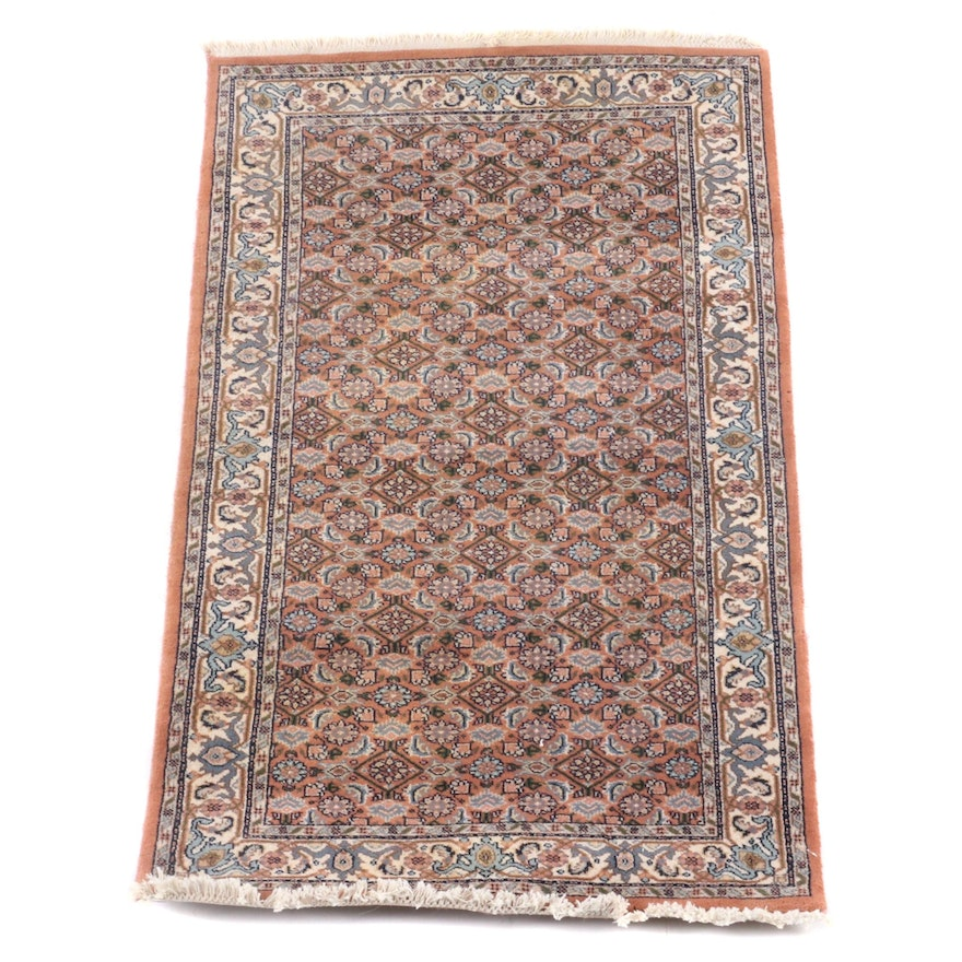 2'11 x 5'5 Hand-Knotted Persian Hamadan Wool Rug