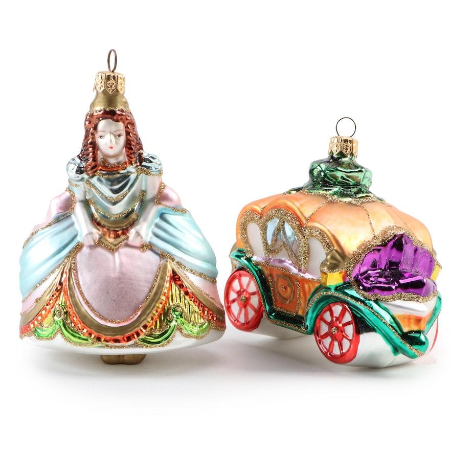 "Kurt S. Adler ""Cinderella"" Polonaise Collection Christmas Ornaments"