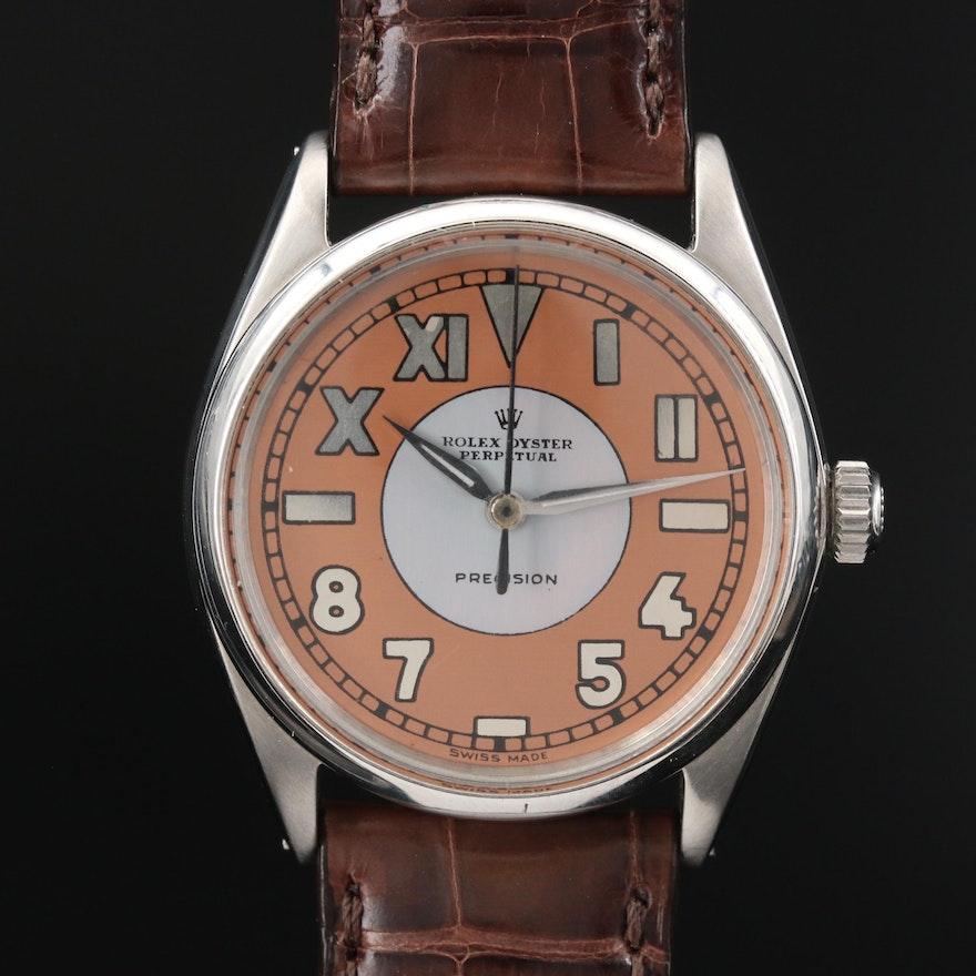 1963 Rolex Air-King 5500 Custom California Dial Stainless Steel Wristwatch