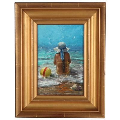 "Shurganov Vladislav Vladimirovich Oil Painting ""Children's Dreams,"" 2017"