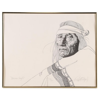 "Rudy Montoya Jr. Lithograph ""American Eagle"""