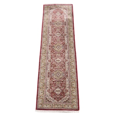 2'6 x 10'0 Hand-Knotted Persian Fereghan Wool Carpet Runner
