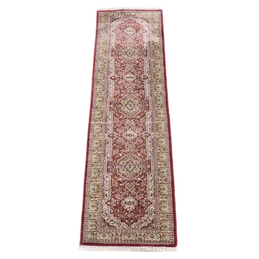 2'6 x 10'0 Hand-Knotted Persian Fereghan Wool Carpet Runner