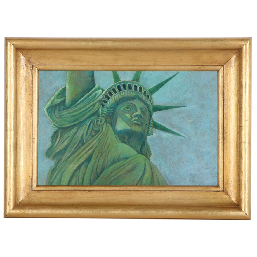 Oil Painting of Statue of Liberty, 20th Century