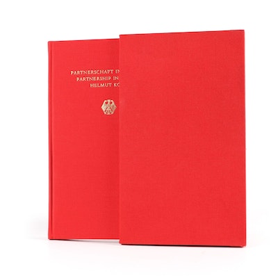 "Helmut Kohl First Edition ""Partnerschaft in Freiheit / Partnership in Liberty"""