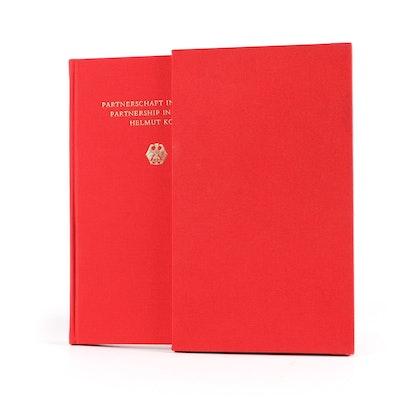 "Helmut Kohl First Edition ""Partnerschaft in Freiheit / Partnership in Liberty"""