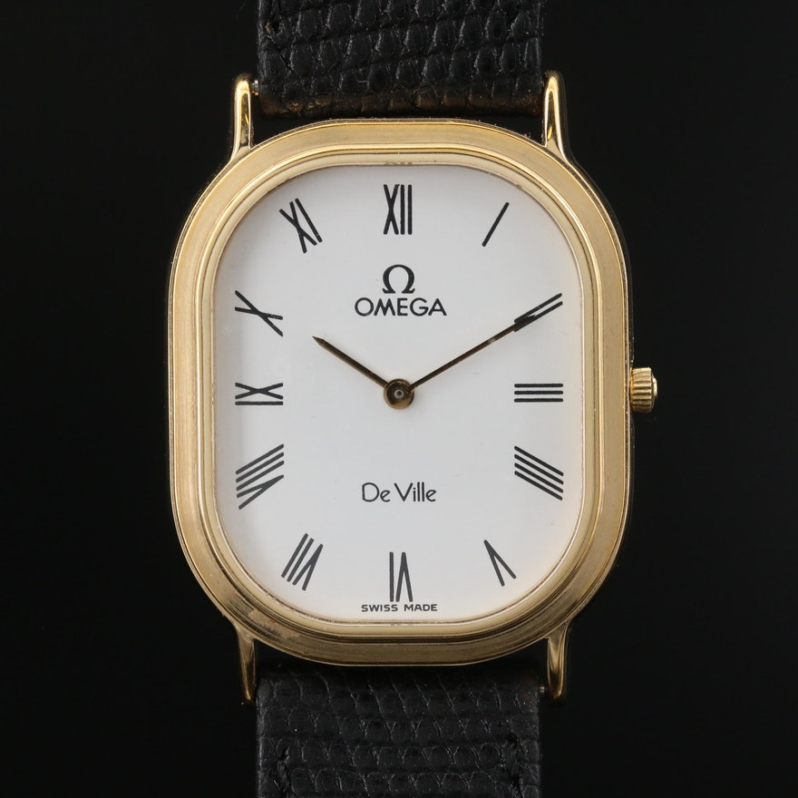 Omega DeVille Gold Plated Stainless Steel Quartz Wristwatch