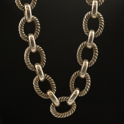 Sterling Cable Link Necklace