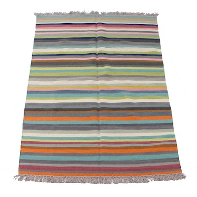 5'2 x 8'0 Handwoven Swedish Kilim Accent Rug