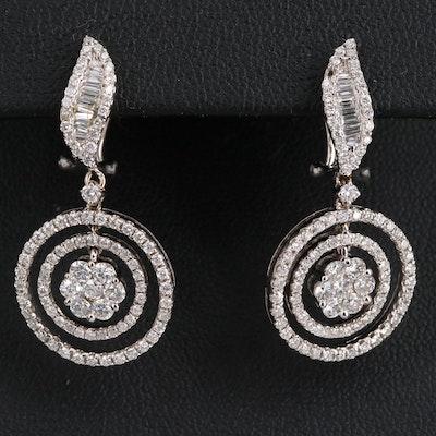 18K 1.96 CTW Diamond Drop Earrings
